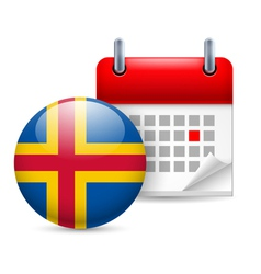 Icon of National Day on Aland Islands vector image vector image