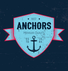 Maritime label poster vector