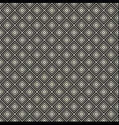 monochrome rhombus geometric seamless pattern vector image vector image
