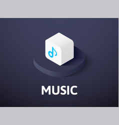 Music isometric icon isolated on color background vector