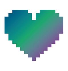 Pixelated heart love romantic icon vector