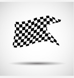 Racing background checkered flag vector