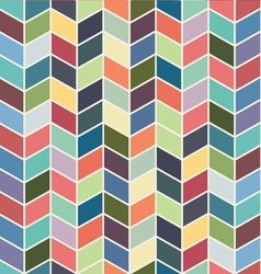 Seamless geometric chevron color textile pattern vector