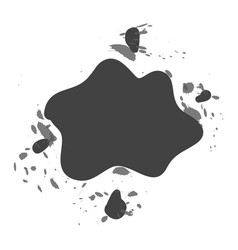 Shaped and sized abstract ink blots isolated on vector