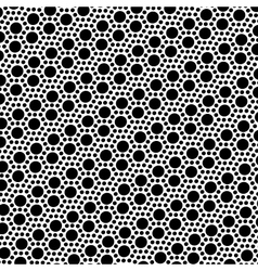 Simple black and white dot seamless pattern vector