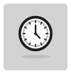 wall clock icon vector image vector image