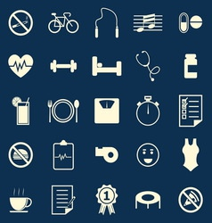 Wellness color icons on blue background vector