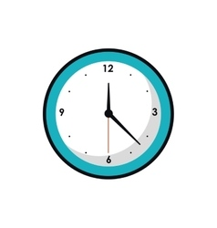 Isolated traditional clock design vector