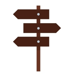 Road sign icon flat style vector