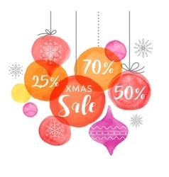 Christmas backgound Christmas Sale poster vector image