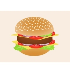 Hamburger or burger isolated on background Side vector image