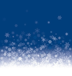 White snowflakes and blue background vector image