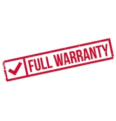 Full warranty rubber stamp vector