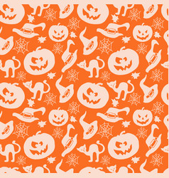 Art seamless pattern for happy halloween vector