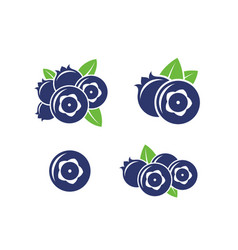 Blueberry abstract berries on white vector