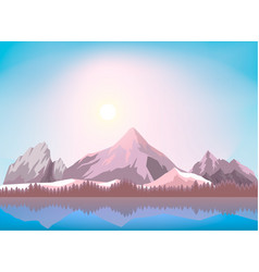 Nature mountain landscape background vector