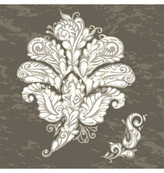 Floral design element renaissance style vector