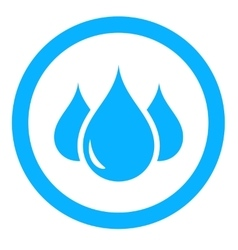 Aqua icon with drop vector