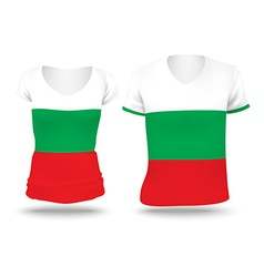 Flag shirt design of bulgaria vector