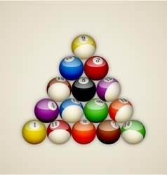 Pool balls triangle vector