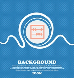 Abacus icon sign blue and white abstract vector