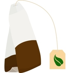 Tea bag disposable icon vector