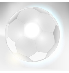 Abstract gray soccer ball background vector image