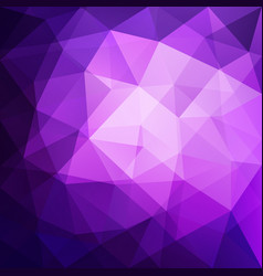 Abstract triangular mosaic purple background vector