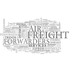 Air freight forwarders text word cloud concept vector