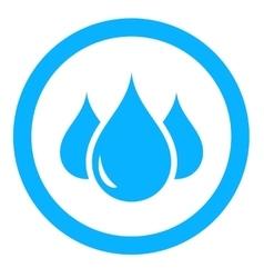 aqua icon with drop vector image vector image