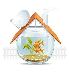 Aquarium home vector image vector image