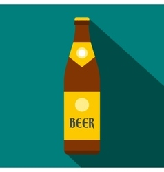 Beer bottle icon flat style vector image vector image