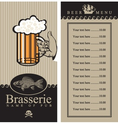 Beer menu vector