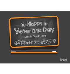 Blackboard Valentines Day Background vector image