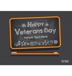 Blackboard valentines day background vector