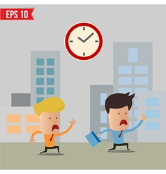 Business man running during rush hour - - EP vector image vector image