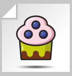 Cakes muffins sweets icons 9 vector