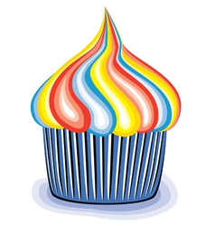 colorful cupcake vector image vector image
