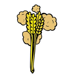 comic cartoon straw vector image