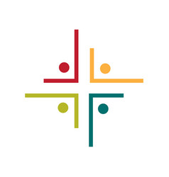 community and people church logo vector image