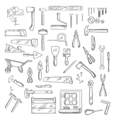 Construction and repair tools or equipment vector