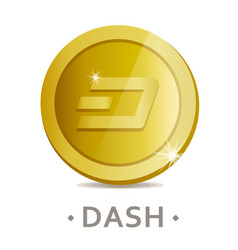 Dash icon as golden coin vector