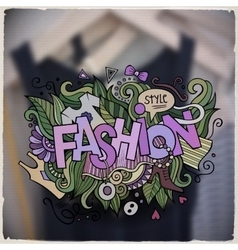 Fashion hand lettering and doodles elements and vector image vector image