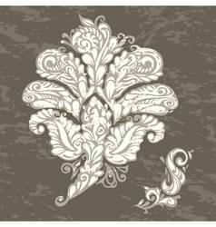 Floral design element renaissance style vector image