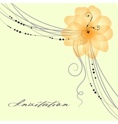 floral wedding card vector image vector image