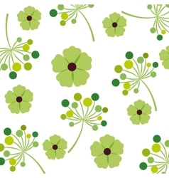 foliage of beautiful flowers design vector image