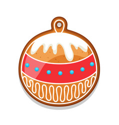 Gingerbread cookies ball of merry vector