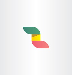 green red and yellow letter z logo vector image
