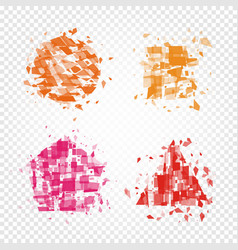 Isolated abstract colorful geometric shapes of vector