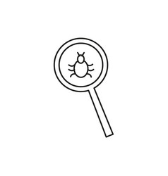 malware bug search icon vector image vector image